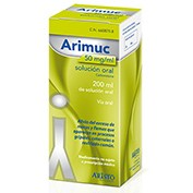 ARIMUC 50 mg/ml SOLUCION ORAL , 1 frasco de 200 ml