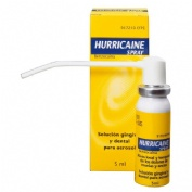 HURRICAINE SPRAY 200 mg/ml SOLUCION PARA PULVERIZACION BUCAL. , 1 frasco de 5 ml